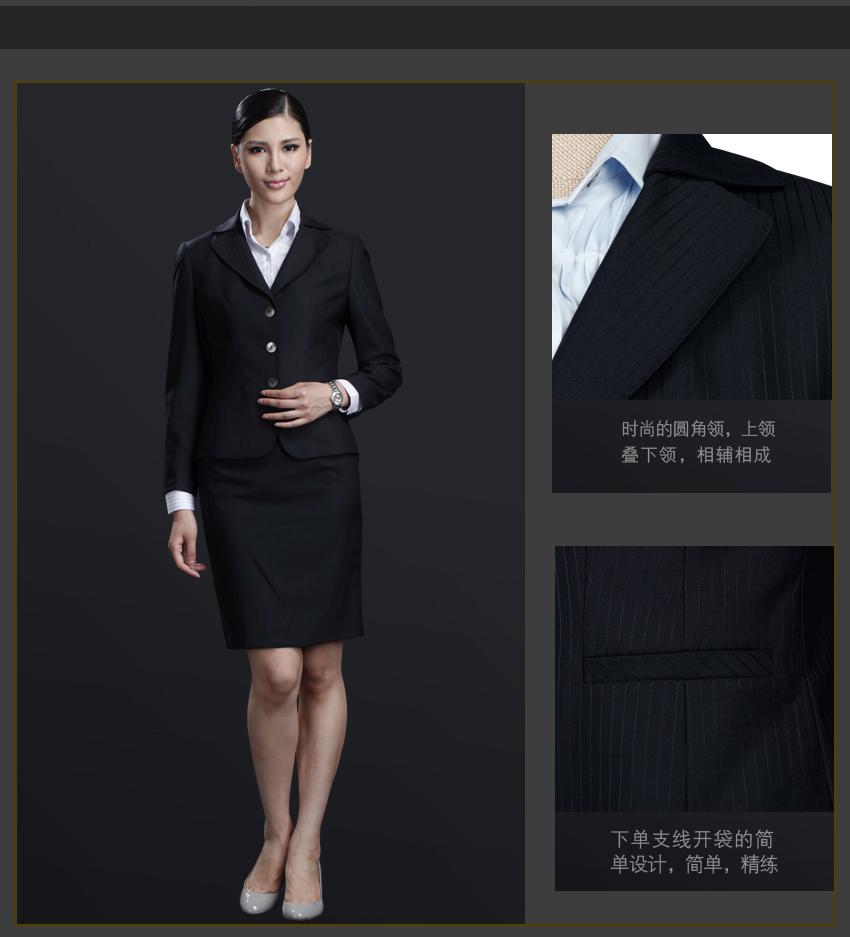 罗培欧西服款式面料版型说明\藏青色套装成熟稳重